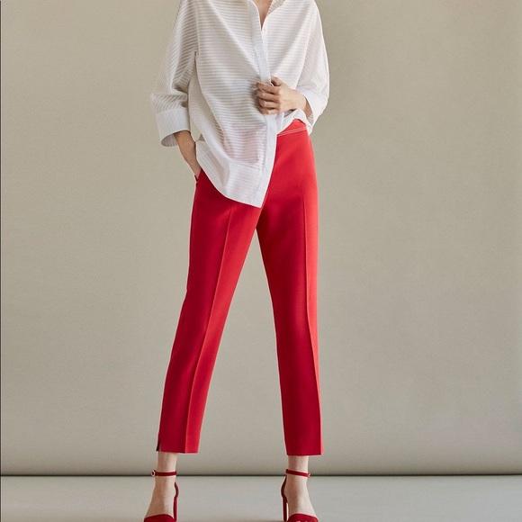 Massimo Dutti Pants - Massimo Dutti slim fit coral trousers